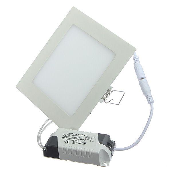 9W Square Ultra Thin Ceiling Energy-Saving LED Panel Light AC 85-265V