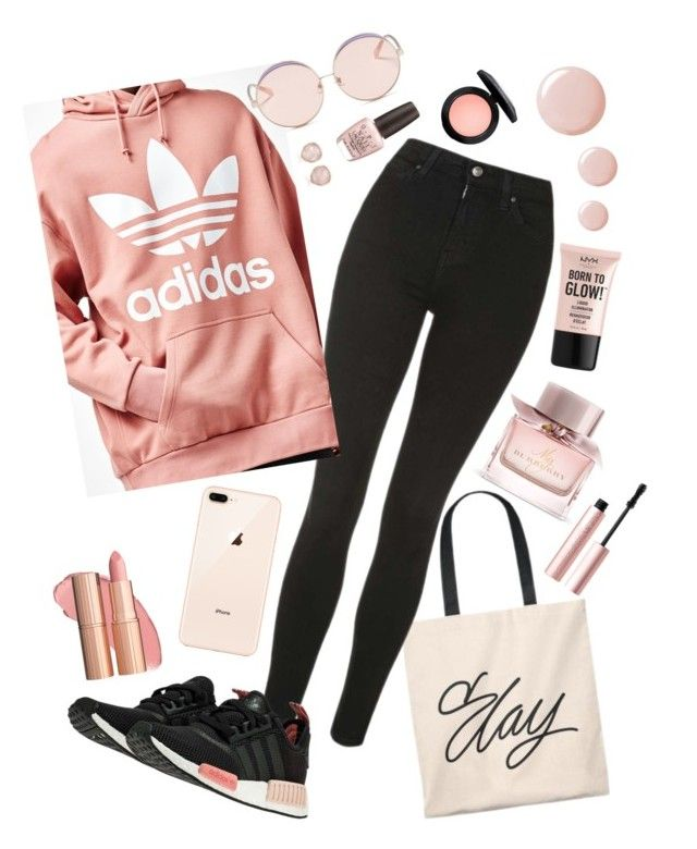 """""""Slay"""" by vanna0803 on Polyvore featuring Topshop, adidas, N°21, Monica Vinader, Burberry, NYX, OPI and Too Faced Cosmetics"""