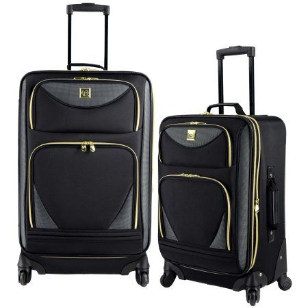 Protege 2-Piece Expandable Spinner Set Luggage, Black