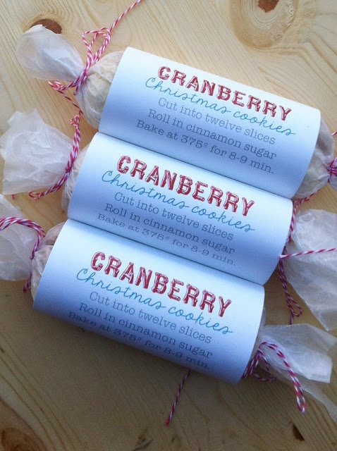 Joy's Hope: Cranberry Christmas cookies to go.