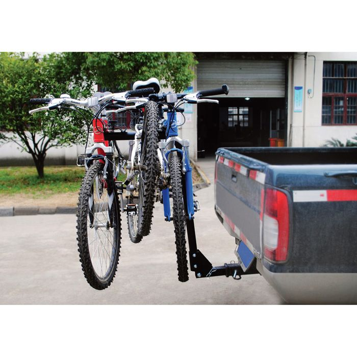 Ironton Steel Hitch Mounted 4 Bike Rack 120 Lb Capacity