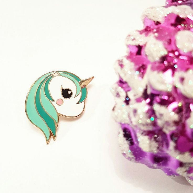Our mint unicorn pin will be back in stock sooooooon 😁
