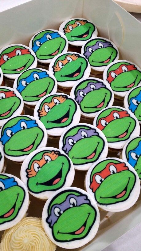 TMNT printed toppers, all edible