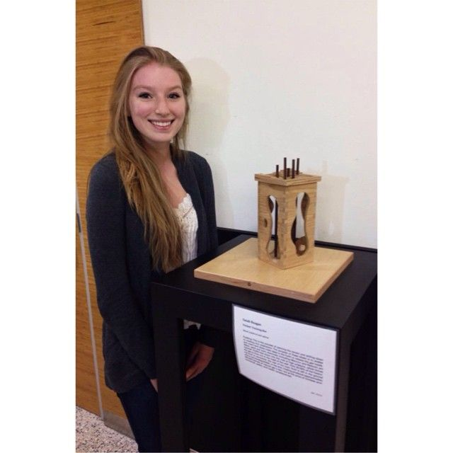 "Got 1st place at the Biorenewables Art Competition!!!! Trying to suppress my shock was a huge feat.  This is a woods piece called ""Fricken' Fracking Box"" constructed from butternut and walnut."
