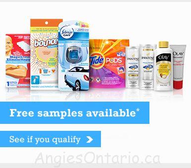 Free P&G everyday samples