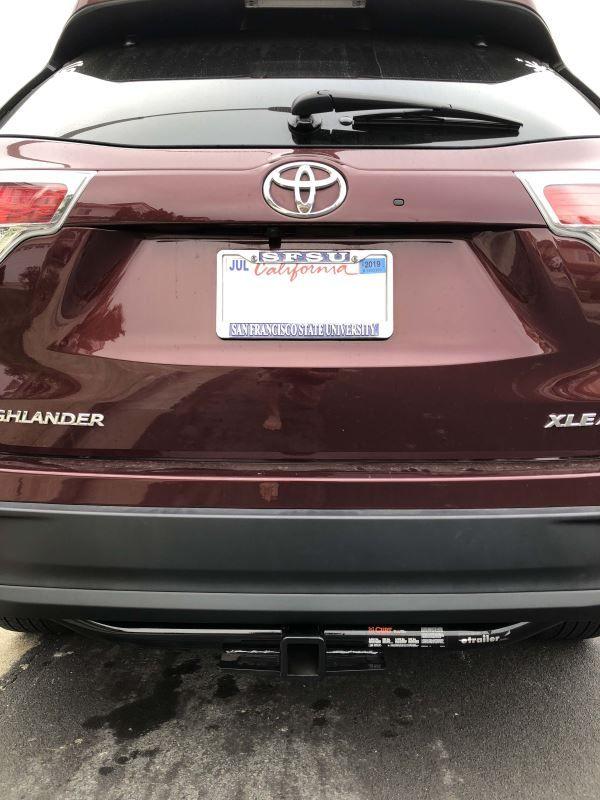 2017 Toyota Highlander Trailer Hitch Curt
