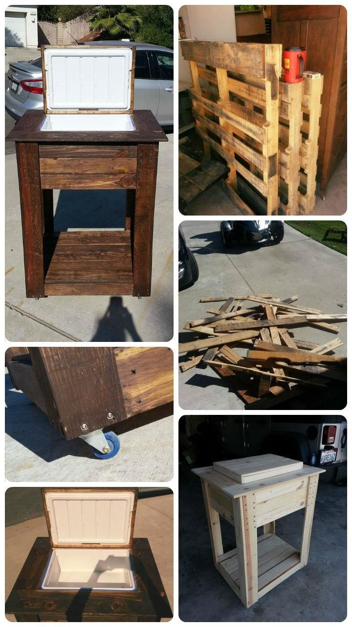 How to Build a Pallet Cooler Stand or DIY Wooden Ice Chest Cooler Plans { diy guide } - 101 Pallet Ideas