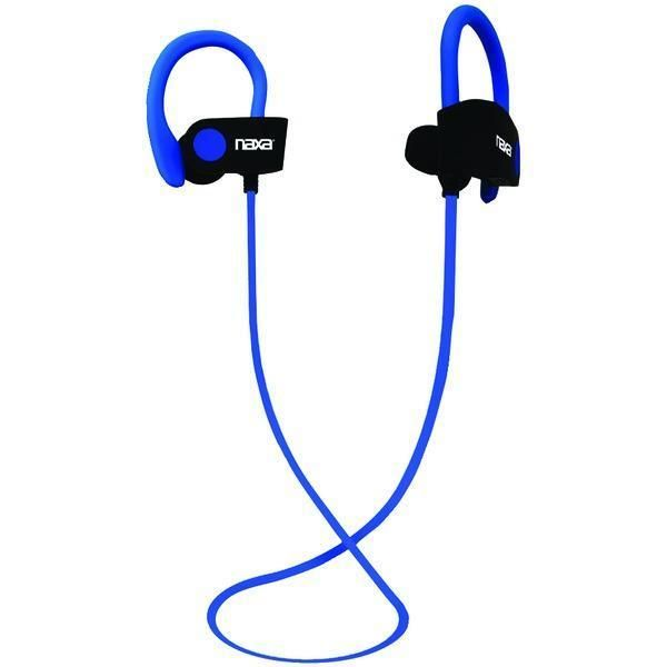 NAXA NE-961 BLUE PERFORMANCE Bluetooth(R) Wireless Sport Earbuds with Ear Hook (Blue)