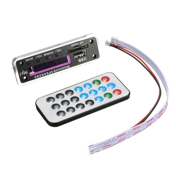 [US$24.99] 5Pcs M01BT69 12V Wireless Bluetooth MP3 WMA Decoder Board Audio Module USB TF Radio For Car  #5pcs #audio #bluetooth #board #decoder #m01bt69 #module #radio #wireless