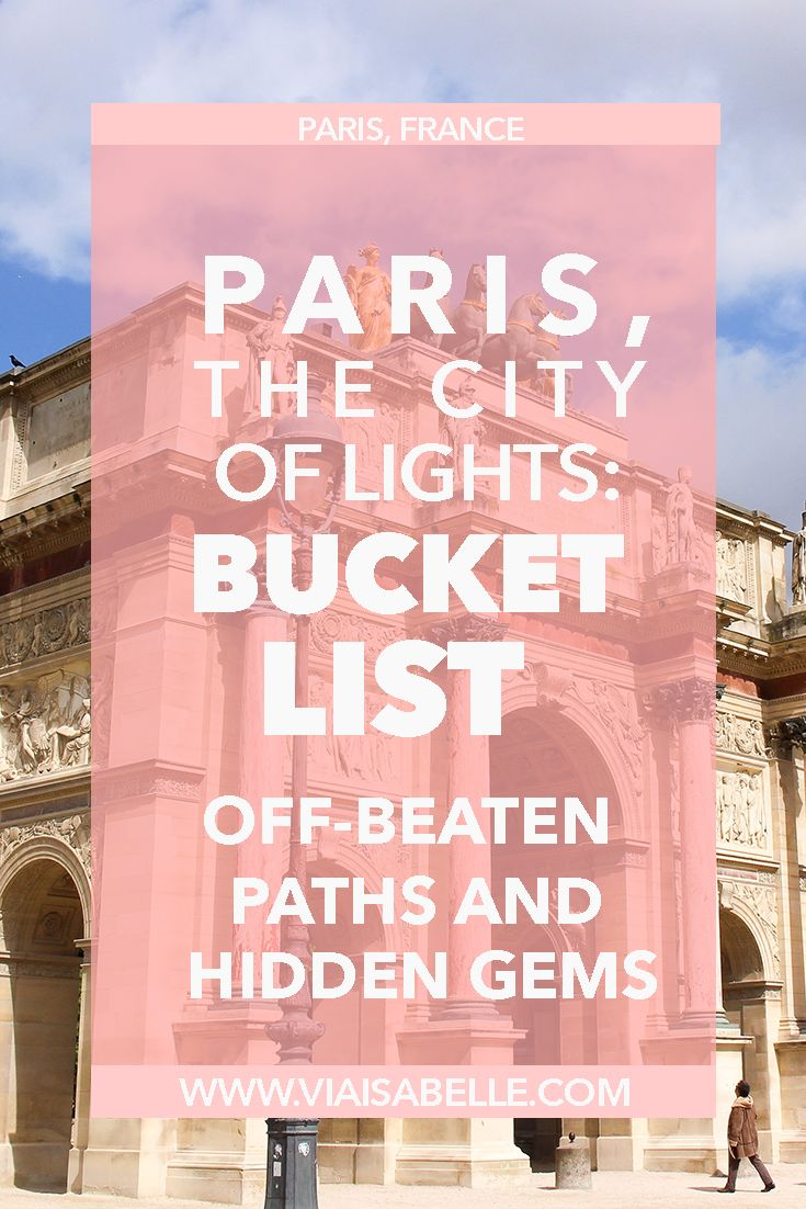 Paris, the home of poets, writers, and painters. There's so much to see and do in the City of Lights that goes beyond your usual tourist destinations! Click the link above to read what to find in Paris, and where to go for that Authentic French experience.