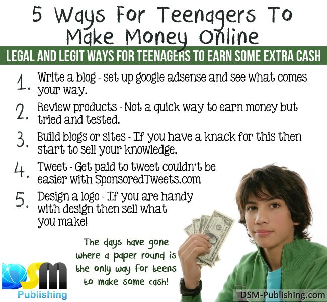 Quick easy ways to make money for teenagers