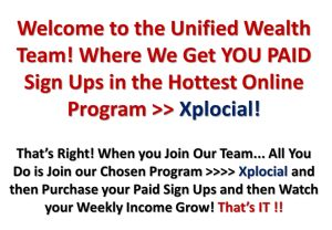 Free signups to get you going.