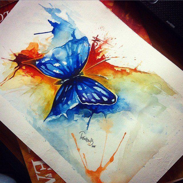 #watercolor #watercolortattoo #watercolorsketch watercolor tattoo sketch butterfly