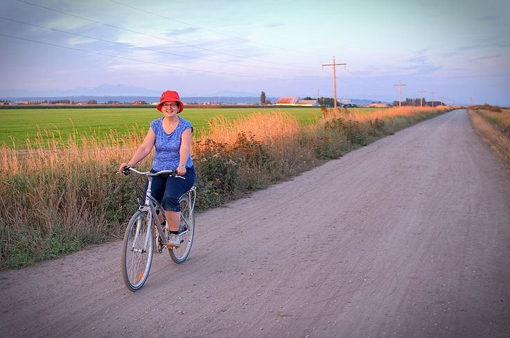 Late Summer Bike Ride on dike at Boundary Bay
