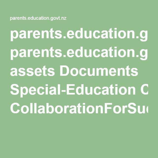 parents.education.govt.nz assets Documents Special-Education CollaborationForSuccessIEP.pdf