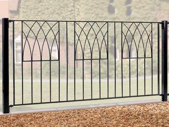 Abbey Wrought Iron Garden Fence Panels