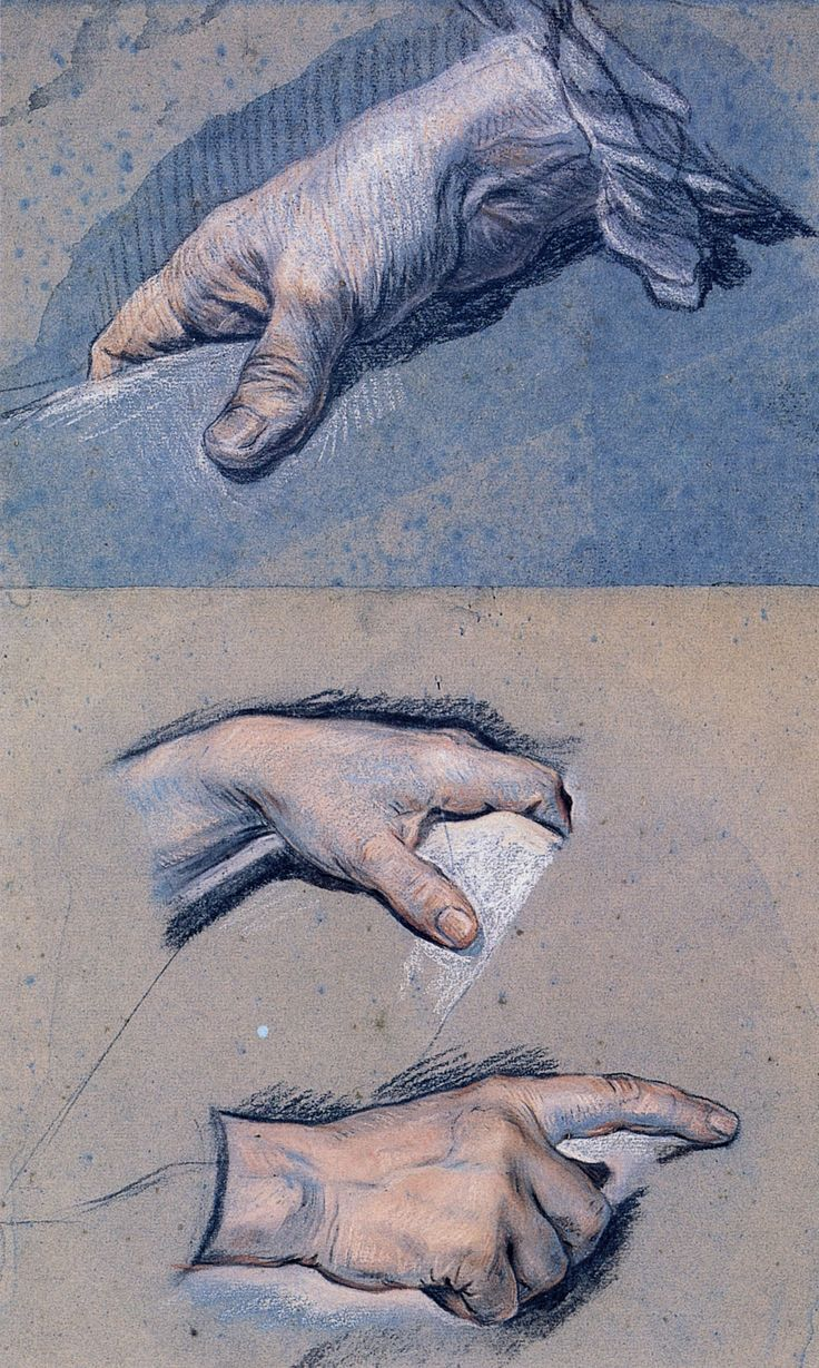 Studies of men's hands - Maurice Quentin de La Tour