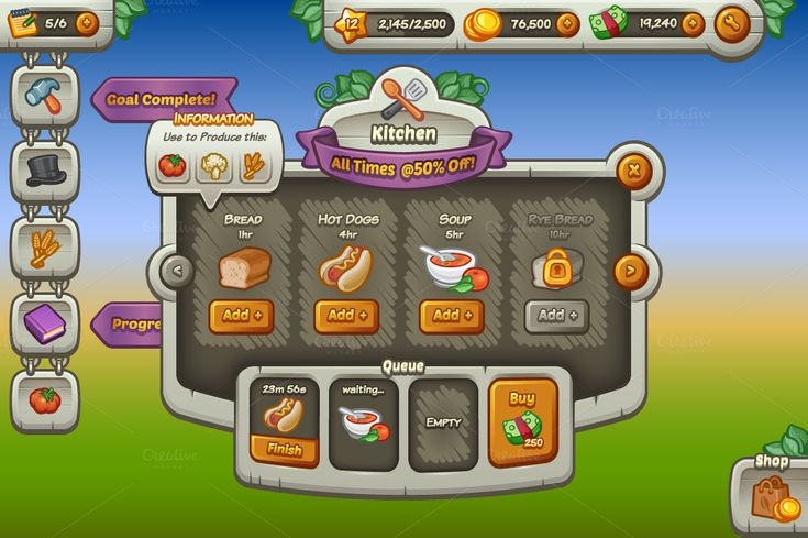 mobile game ui - Google Search