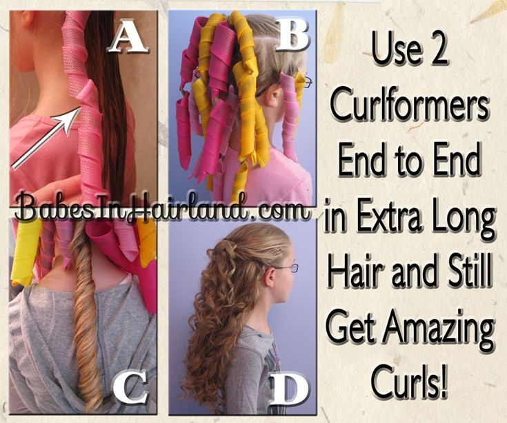 If you've got extra long hair - check out our Curlformers Experiment!