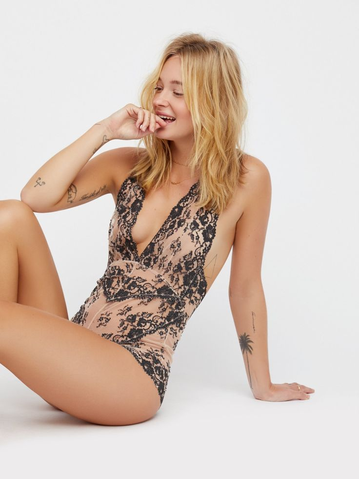 Intimately Champagne / Black Too Cute To Handle at Free People Clothing Boutique