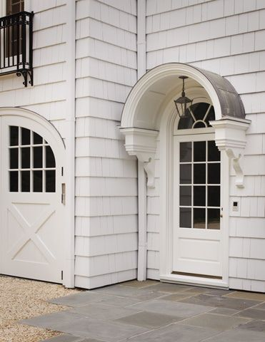 Design Element Metal And Canvas Awnings Arched Awning