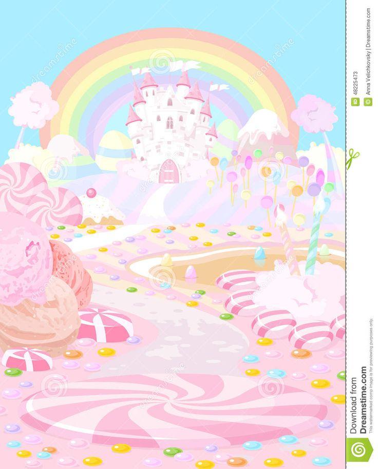 candy-land-illustration-pastel-colored-fairy-kingdom-48225473.jpg (1045×1300)
