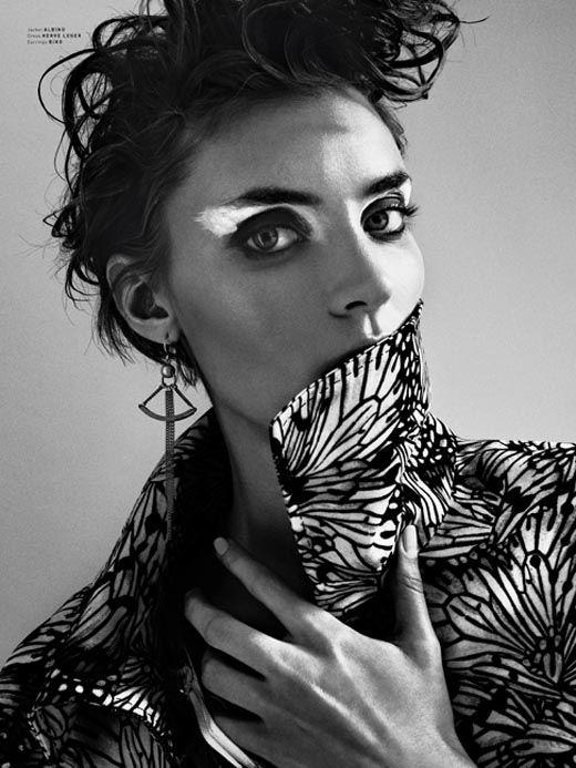 Alison Nix Pulp Magazine: Eye Makeup, Arrows Earrings, Black And White, Alison Nix, Inspiration Photography, Butterflies Wings, Pulp Magazines, Arkan Zakharov, Beautiful Shoots