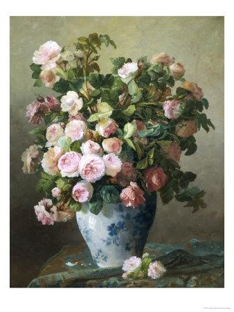 Still Life of Roses Lámina giclée por Pierre Gontier en AllPosters.es