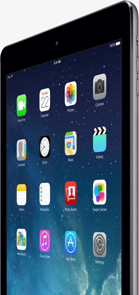 "Apple i Pad Air ! Really want a 32GB or 64GB in ""Space Gray"" color. So seamless."