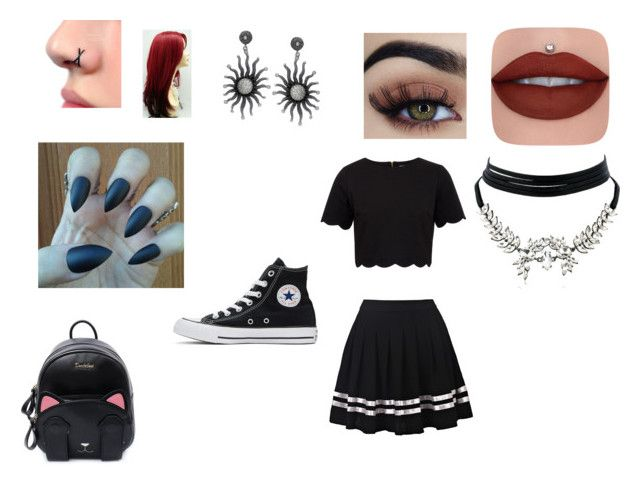 """School"" by isabelegolia on Polyvore featuring Ted Baker, Converse and WithChic"