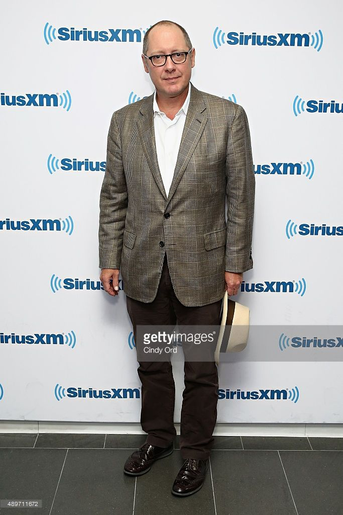 Actor James Spader visits the SiriusXM Studios on September 23, 2015 in New York City.