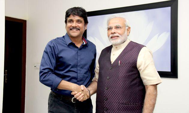 Noted Telugu actor Nagarjuna meets Shri Narendra Modi