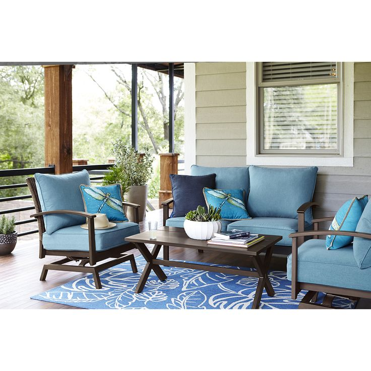 Living Rooms Sets For Cheap Interior Decorating Ideas Small Lowes Allen & Roth Atworth Set | Patio Furniture ...
