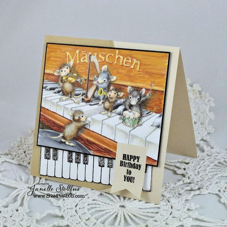 #cre8time with Rain Puddles Design is making music with #Stampendous and #HouseMouseDesigns