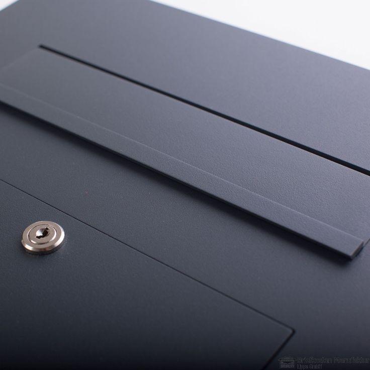 Edelstahl Briefkasten Anthrazit - Style - Edition RAL 7016