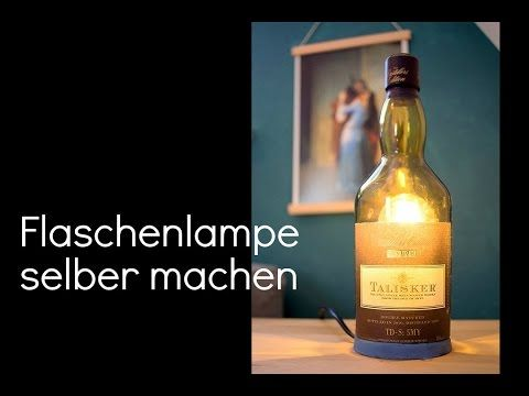 Fancy Lampe selber bauen machen Anleitung Designer LED Treibholz drift wood lamp tutorial DIY YouTube