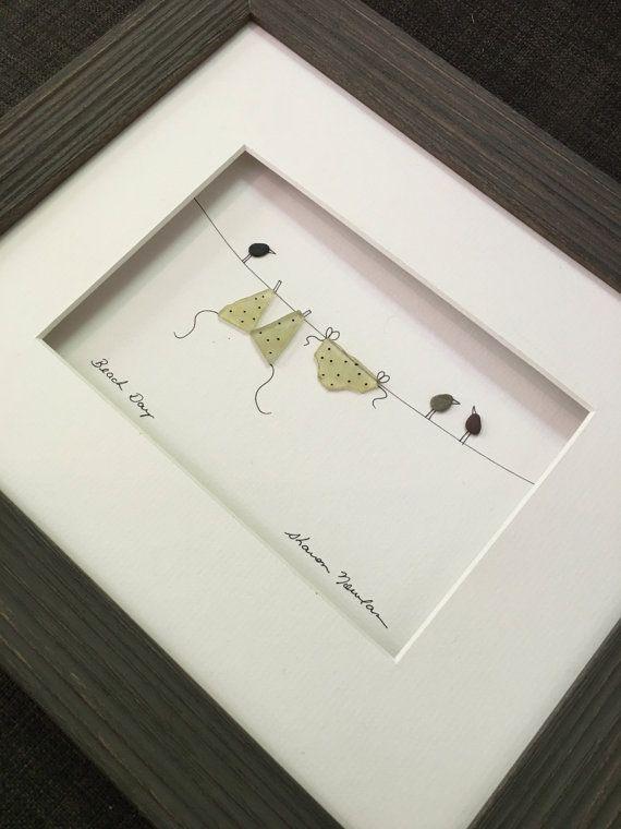 Bikini+on+the+line+pebble+art+by+sharon+nowlan+by+PebbleArt