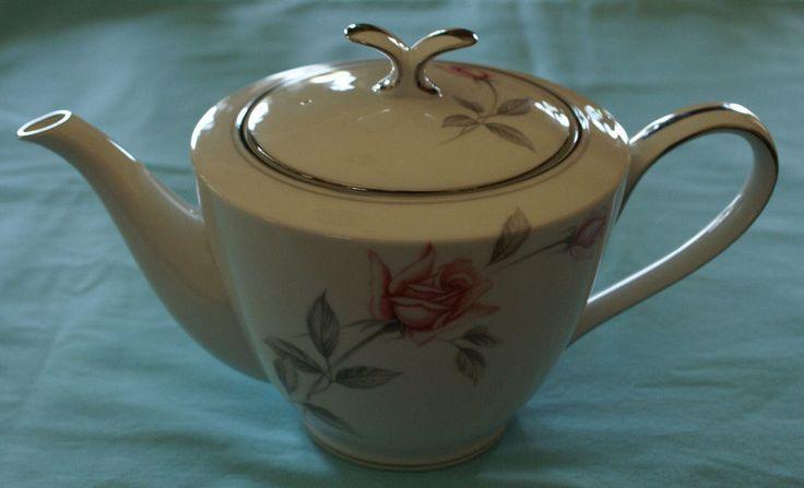 Noritake China Rosemarie 6044 Teapot & Lid Made in Japan Vintage #Noritake