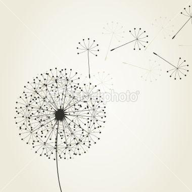 Dandelion4 Royalty Free Stock Vector Art Illustration