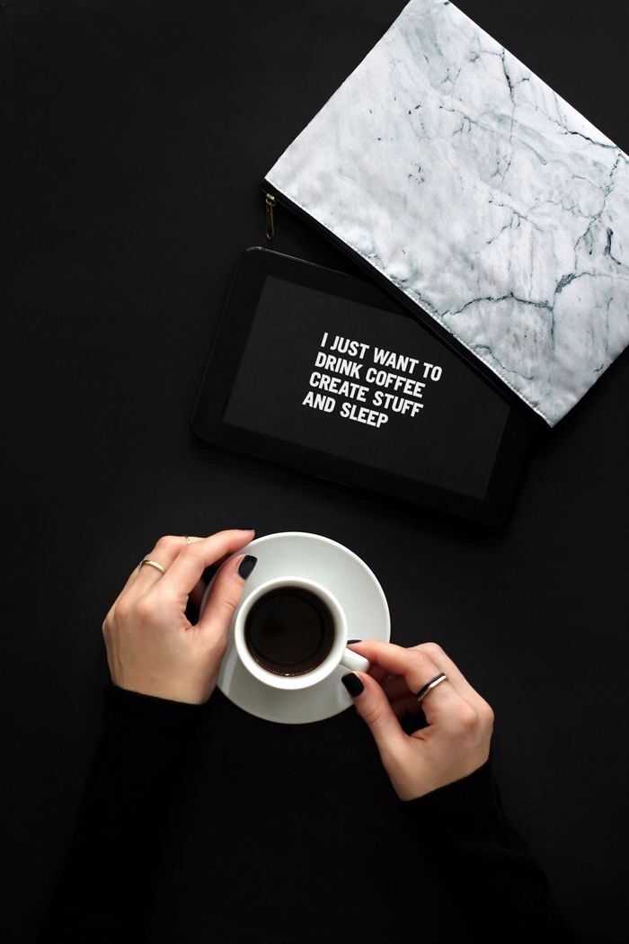 """I just want to drink coffee, create stuff and sleep."" #Coffee #Quotes #Design"