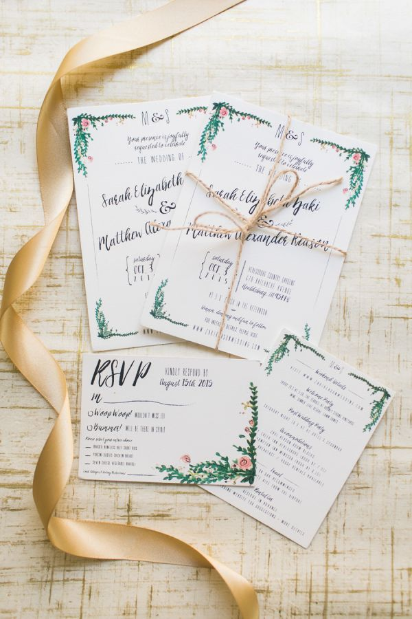 Garden inspired invitation suite: http://www.stylemepretty.com/california-weddings/healdsburg/2016/06/13/this-whimsical-wedding-is-guaranteed-to-make-you-smile/ | Photography: Hannah Suh Photography - http://hannahsuh.com/