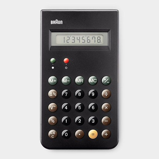 Braun Calculator / Dieter Rams, Dietrich Lubs, and Braun Design Team, 1981 $50 - what a great-looking, classic calculator.