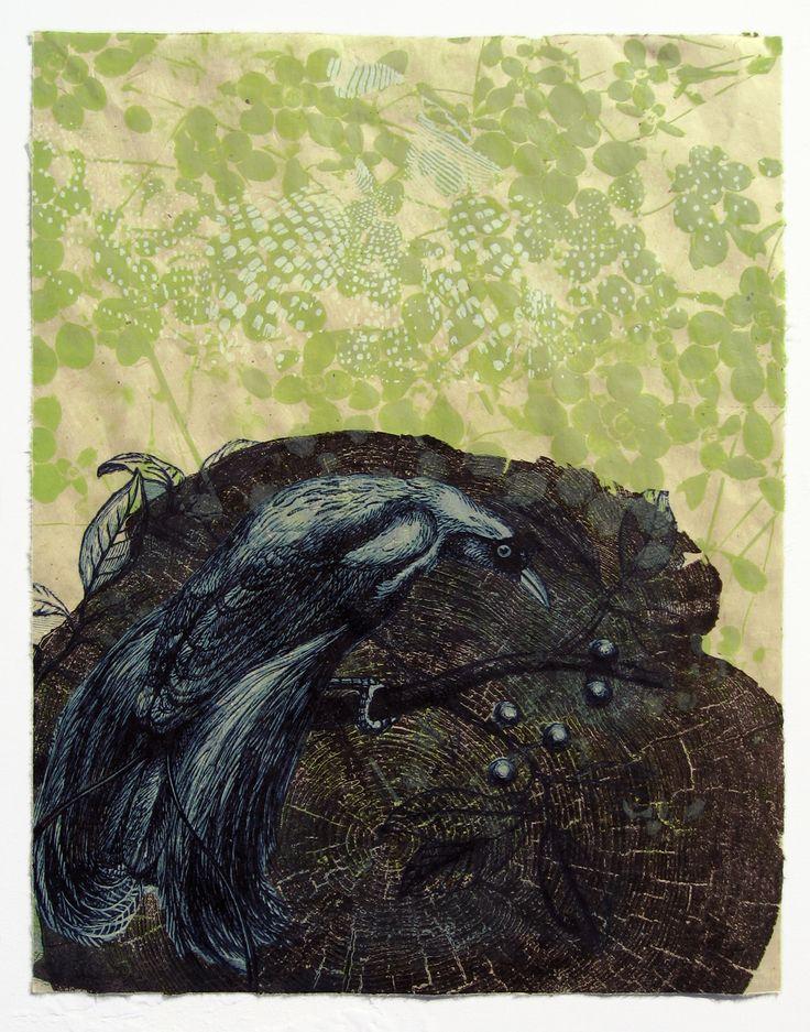 Stephanie Hunder, Born: Minnesota, Phoenix, serigraph, 15 x 11 inches