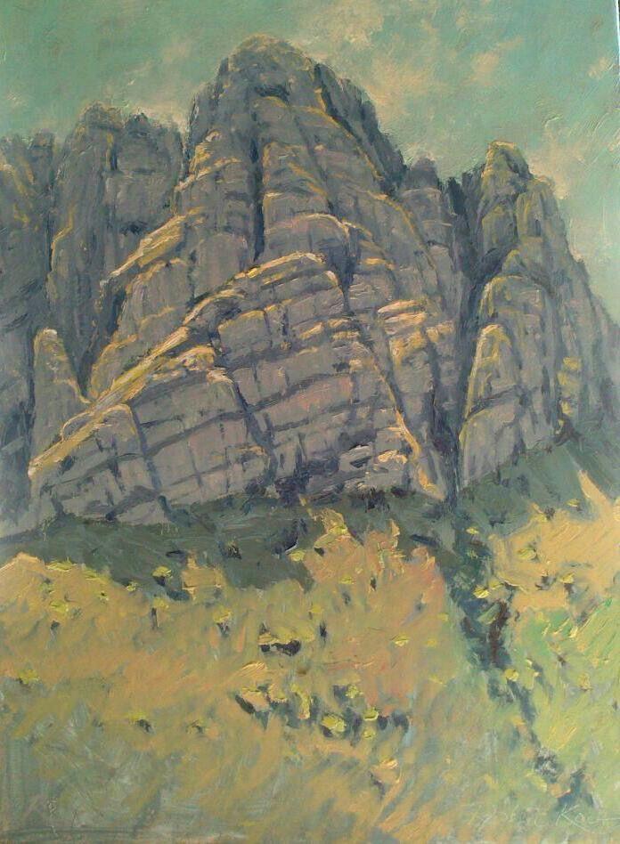 Rock study Oil on canvas  by Robert Koch