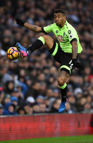 Joshua King of AFC Bournemouth controls the ball in mid air during the Premier League match between West Bromwich Albion and AFC Bournemouth at The Hawthorns on February 25, 2017 in West Bromwich, England.