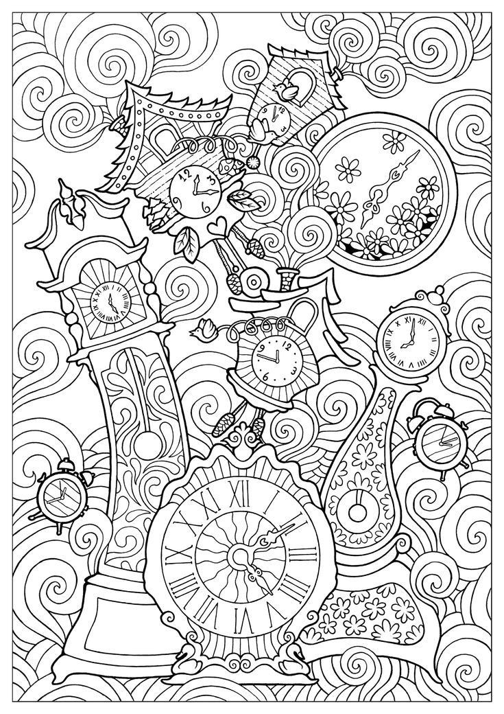Relojes Mandalas Para Colorear Libros Para Colorear Adultos Mandalas Para Colorear Dificiles