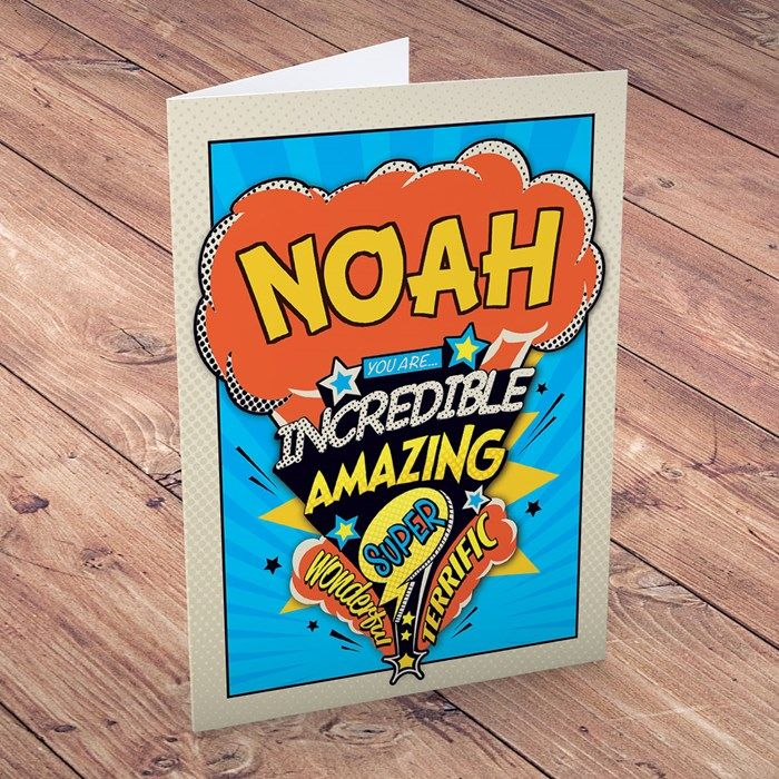 Personalised Birthday Card - Incredible. Personalised with his name and your message inside, this card is perfect for sending birthday wishes. From 99p! Buy Now!