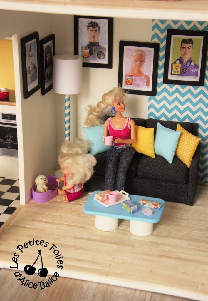 668 best Miniature Living room images on Pinterest Doll houses - barbie wohnzimmer möbel