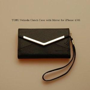 TORU Black Nekeda Clutch Wallet Case with Mirror for iPhone 4/4S  Sale:$31.95