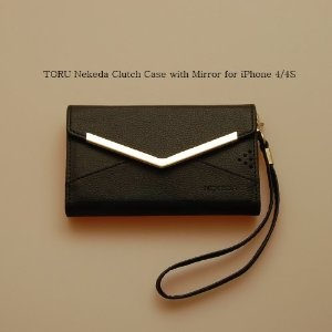 TORU Black Nekeda Clutch Wallet Case with Mirror for iPhone 4/4S  Sale:	$31.95